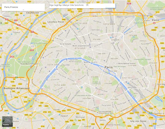 Plano de la ciudad de París