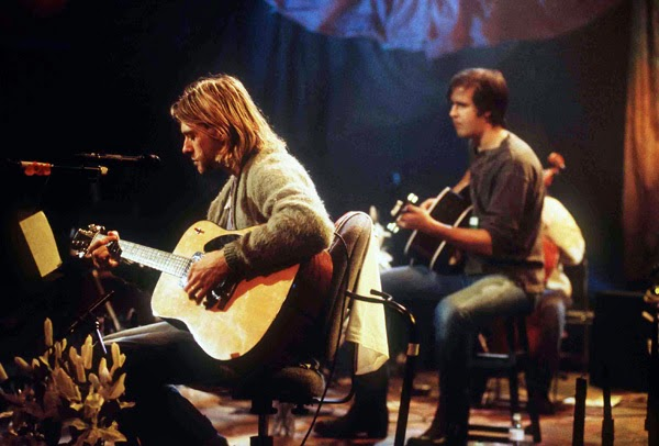 Nirvana Unplugged in New York Kurt Cobain Krist Novoselic acoustic 1993 1994 live