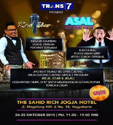 Open Casting Progam Trans 7  di Yogyakarta Real Star dan ASAL