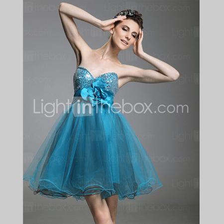 Секси бална рокличка в синьо