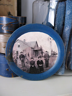 toy plate with old photo