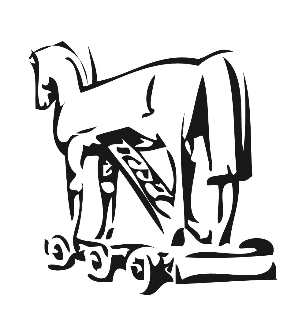 COLOREA TUS DIBUJOS: Caballo de Troya para colorear y pintar