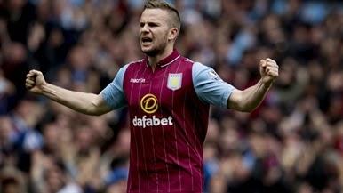 Cleverley acerta mais uma vez o alvo para o Aston Villa