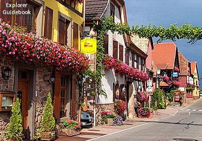 Tempat wisata terkenal di Perancis Itterswiller desa indah perancis