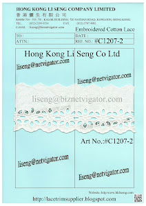 Embroidered Cotton Lace Manufacturer - Hong Kong Li Seng Co Ltd