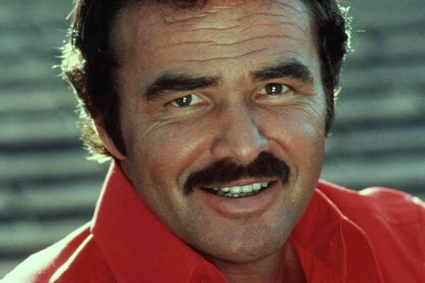 Burt Reynolds and his famous mustache