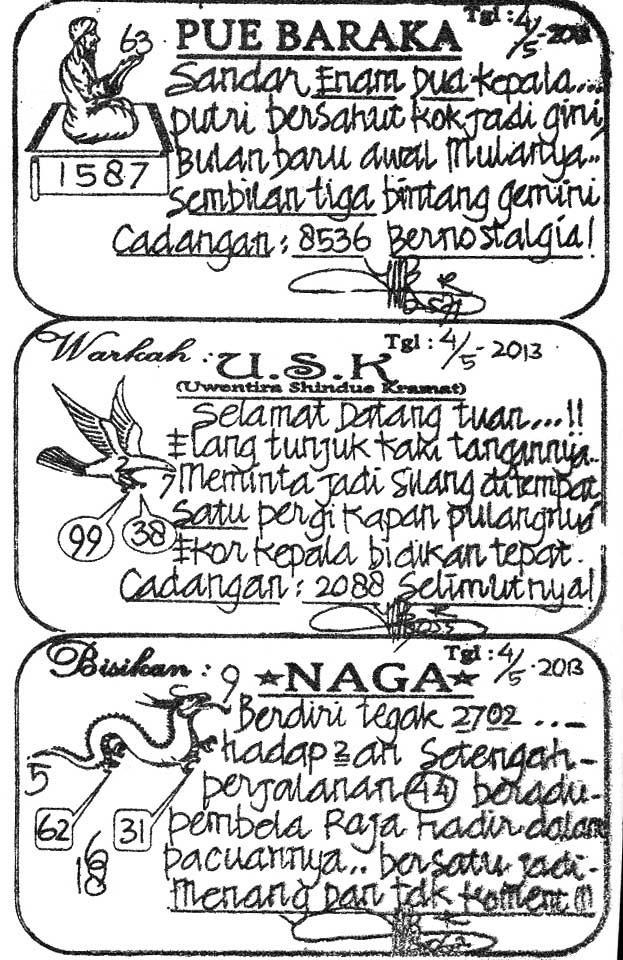 Prediksi Togel Singapura SABTU 04 MEI 2013 Cyber4rD Result 8986