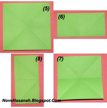langkah-langkah cara melipat kertas origami untuk anak-anak berbentuk payung yang mudah sekali 5