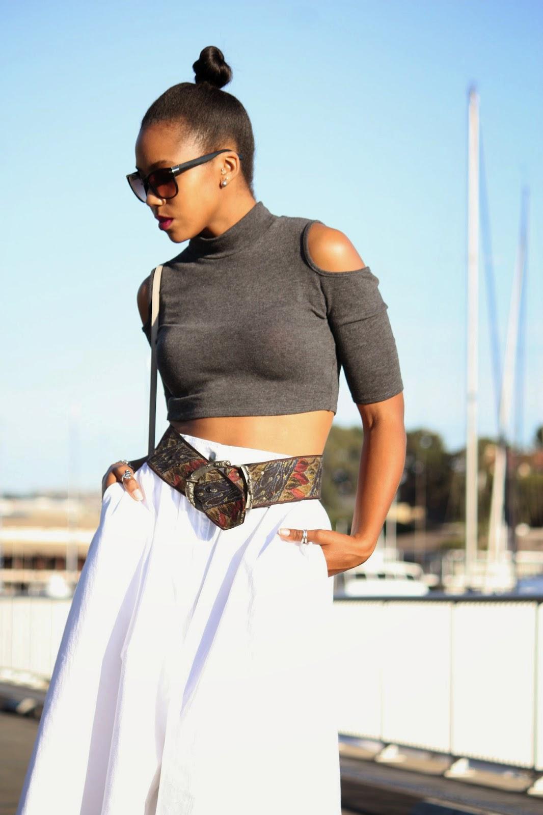 Wearing: H&M sunglasses M.A.C Rebel lipstick Kate Spade New York bag Tiffany & Co earrings and bracelet