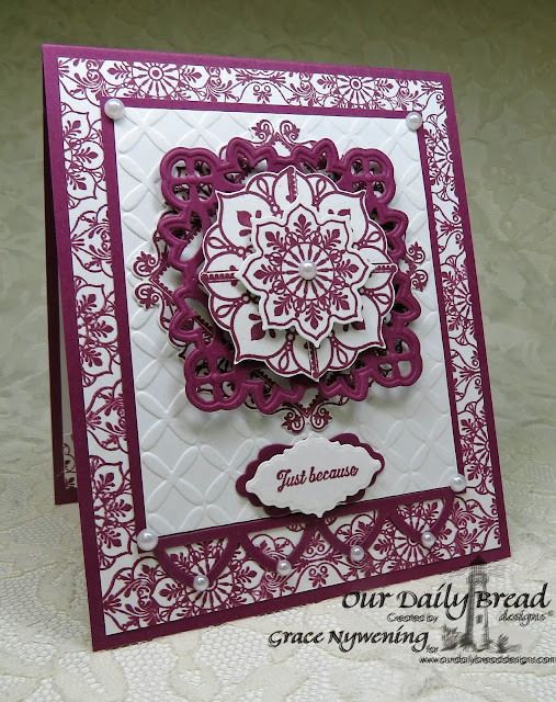 Our Daily Bread Designs stamps: Ornate Borders and Flowers, Ornate Background, Ornate Border Sentiments, designed by Grace Nywening