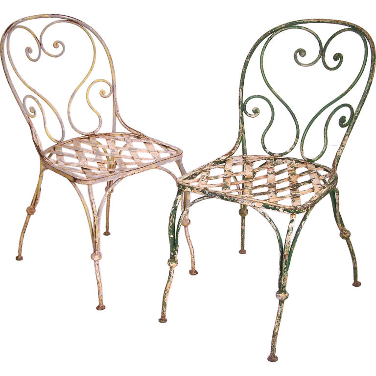 Gary c sharpe decorative iron garden furniture French metal garden furniture