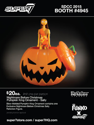 San Diego Comic-Con 2015 Exclusive The Nightmare Before Christmas Pumpkin King Ornament Sally ReAction Figure by Super7 x Funko