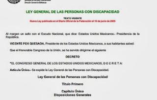 conadis ley gral personas discapacitadas en mexico