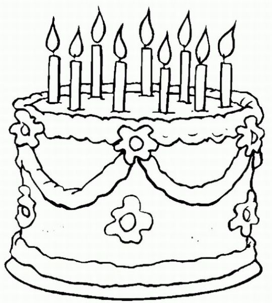 Handy image pertaining to free printable birthday coloring pages