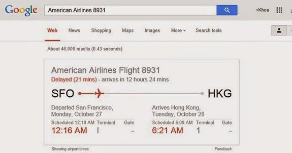 kiểm tra chuyến bay