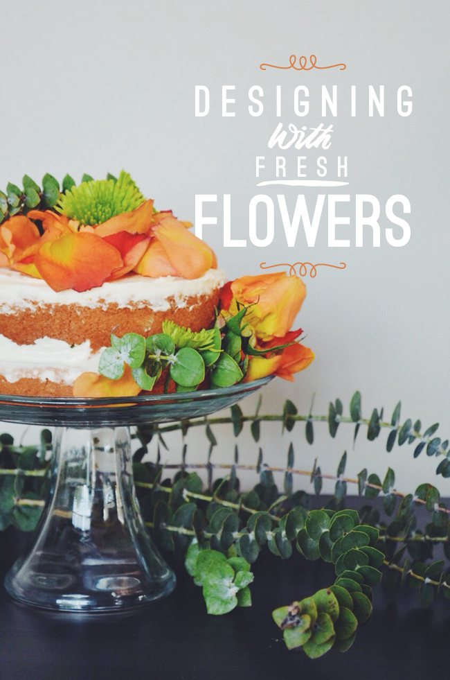 rustic cake with flowers