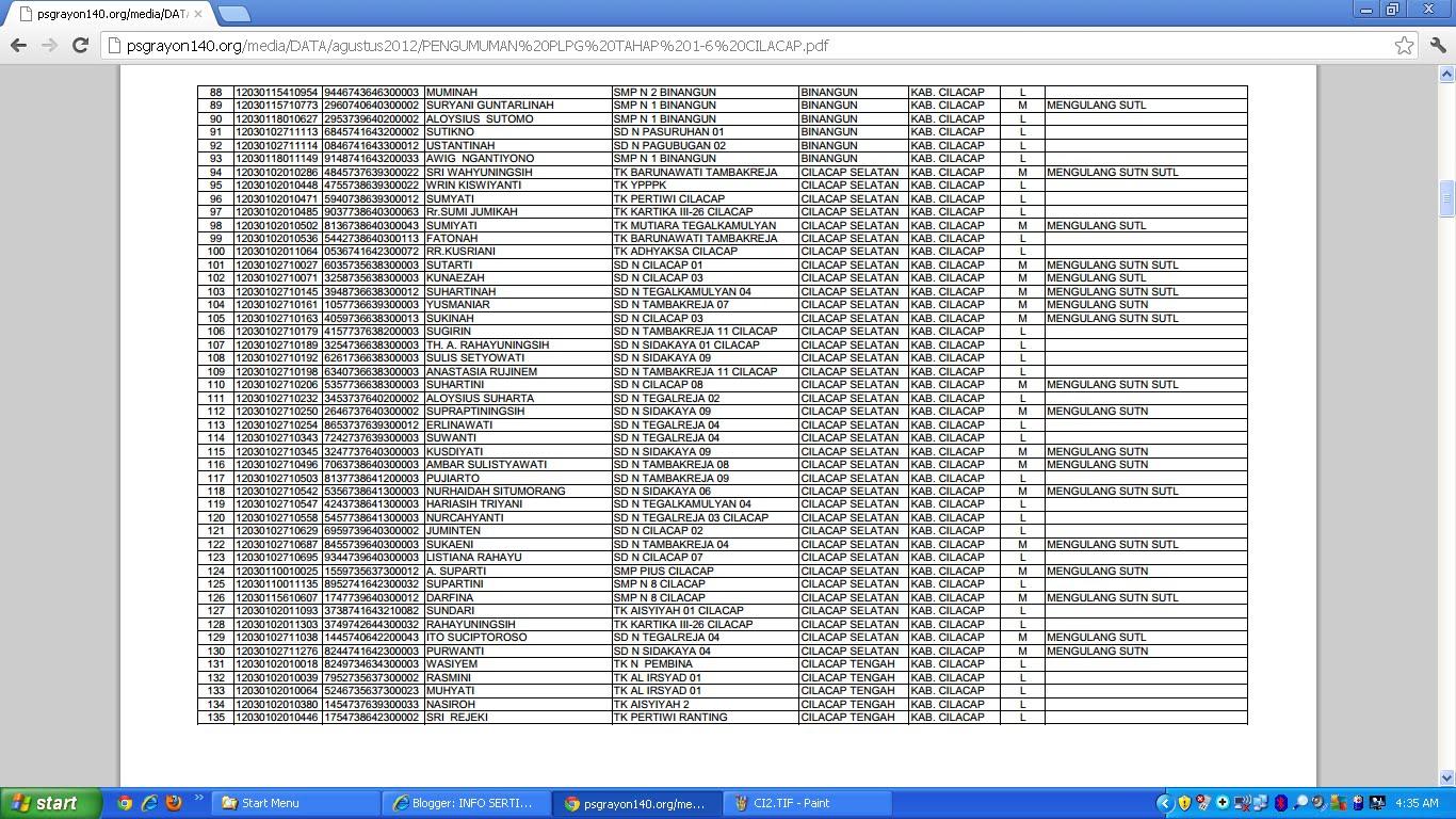 INFO SERTIFIKASI GURU pindah link website di : http .