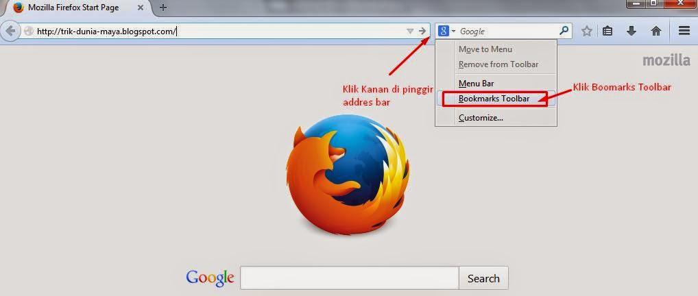 Cara Membuat Bookmark Toolbar di Mozilla Firefox - Cara Melihat ID Akun Facebook