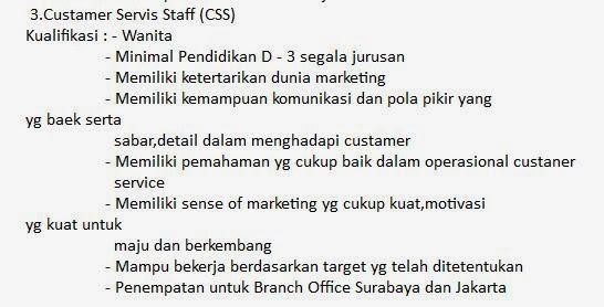 lowongan-kerja-customer-service-surabaya-terbaru-februari-2014