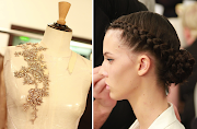 Trendy 2013: Fryzury ślubne (runway to white aisle wedding dress inspiration elie saab couture fall braided hairstyle)