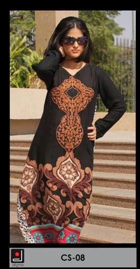 Embroidered kurti dicha summer collection