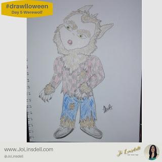 #drawlloween day 5 Werewolf