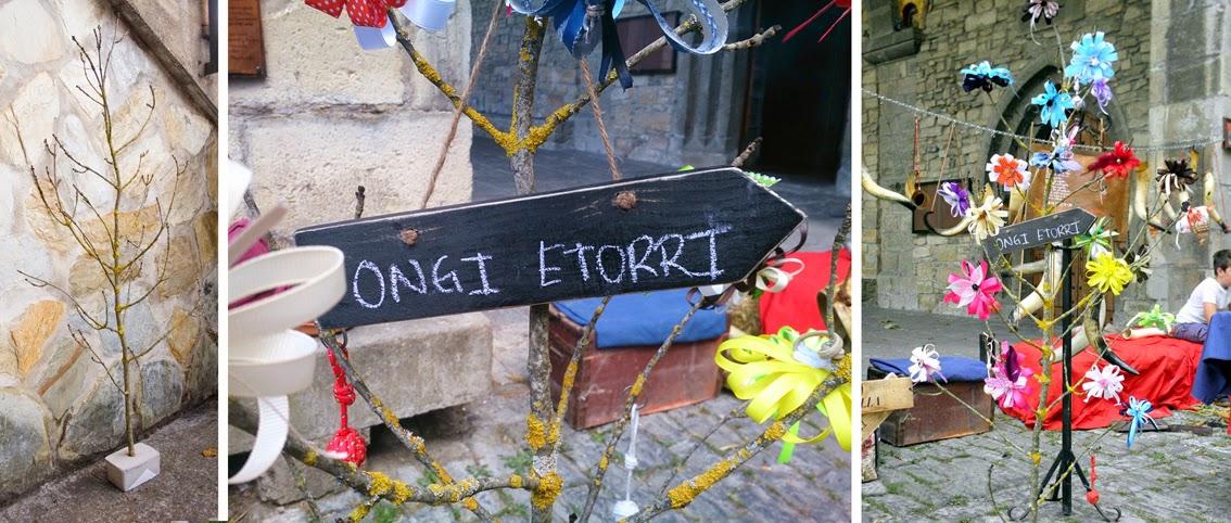 Mercado medieval de Artziniega y banderines descargables_arbol de cokas