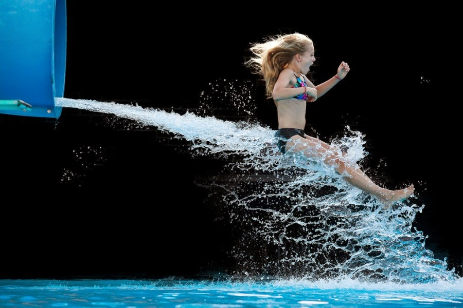Krista Long Captures Stunning Moments of People Coming Out Of Water Slides
