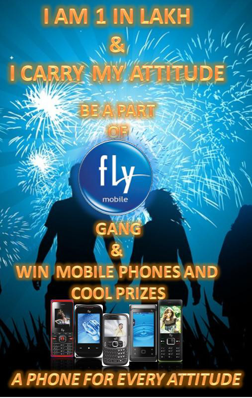 win mobile phones and cool prizes from fly mobile india