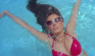 Evelyn Sharma Cute Red Bikini From movie Yariyaan