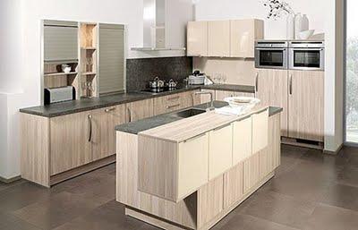 Decora y disena 10 fotos de cocinas de madera modernas - Cocinas color roble ...