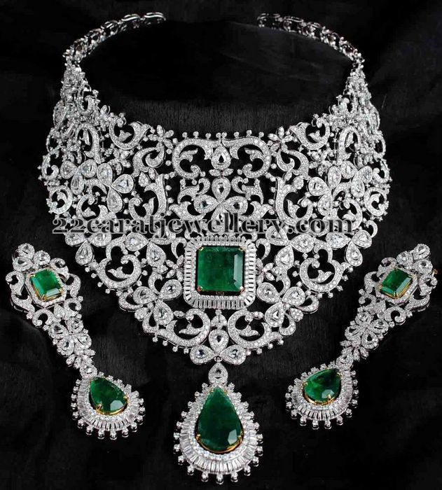 Bridal Attire White Gold Diamond Set