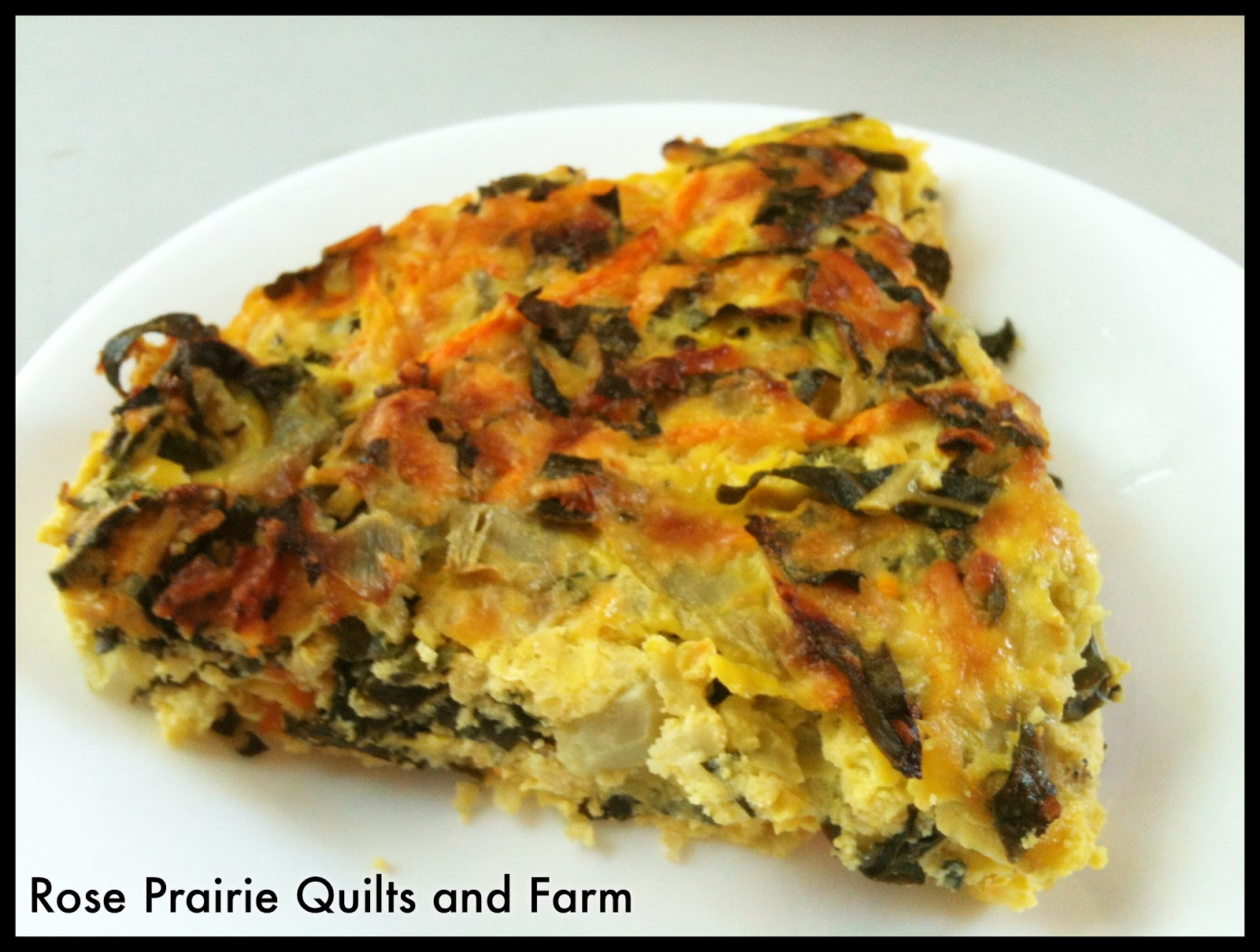 ... Quilts and Farm: Egg Recipe # 31 - Artichoke, Kale & Ricotta Pie
