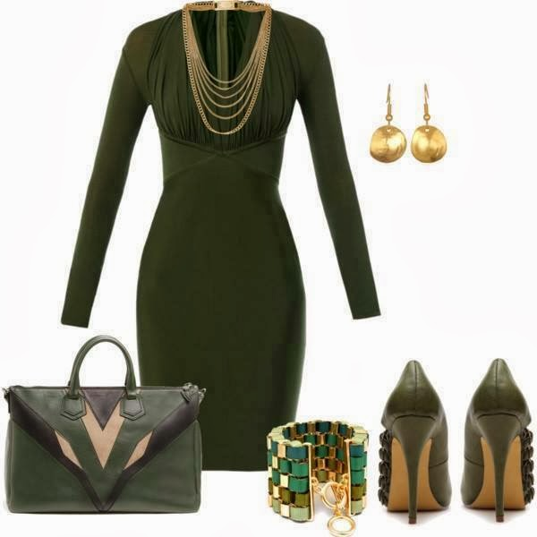 Bag, Dress, Shoes, Earrings: