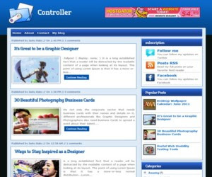 Controller Blogger Template