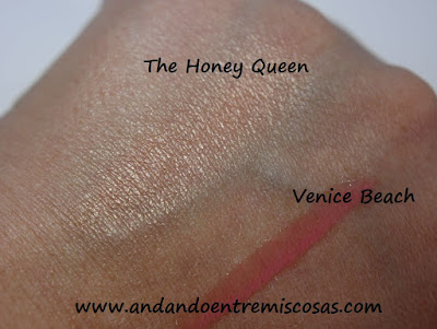 Swatches productos W7