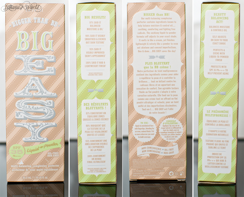 benefit big easy packaging