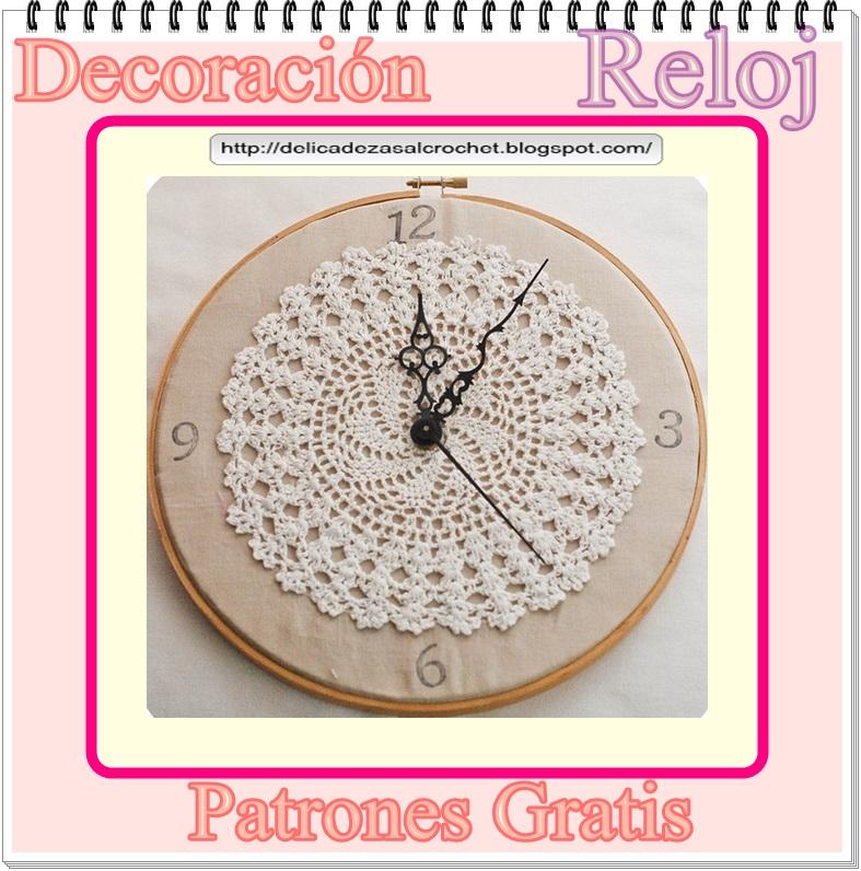 Mis puntadas preferidas: Reloj de pared en crochet