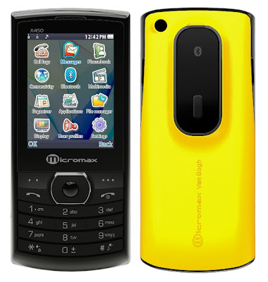 Micromax X450 VanGogh Dual SIM Mobile
