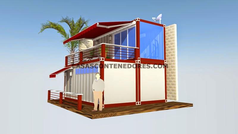 Casas contenedores dise o de vivienda con 3 contenedores - Casa hecha con contenedores ...
