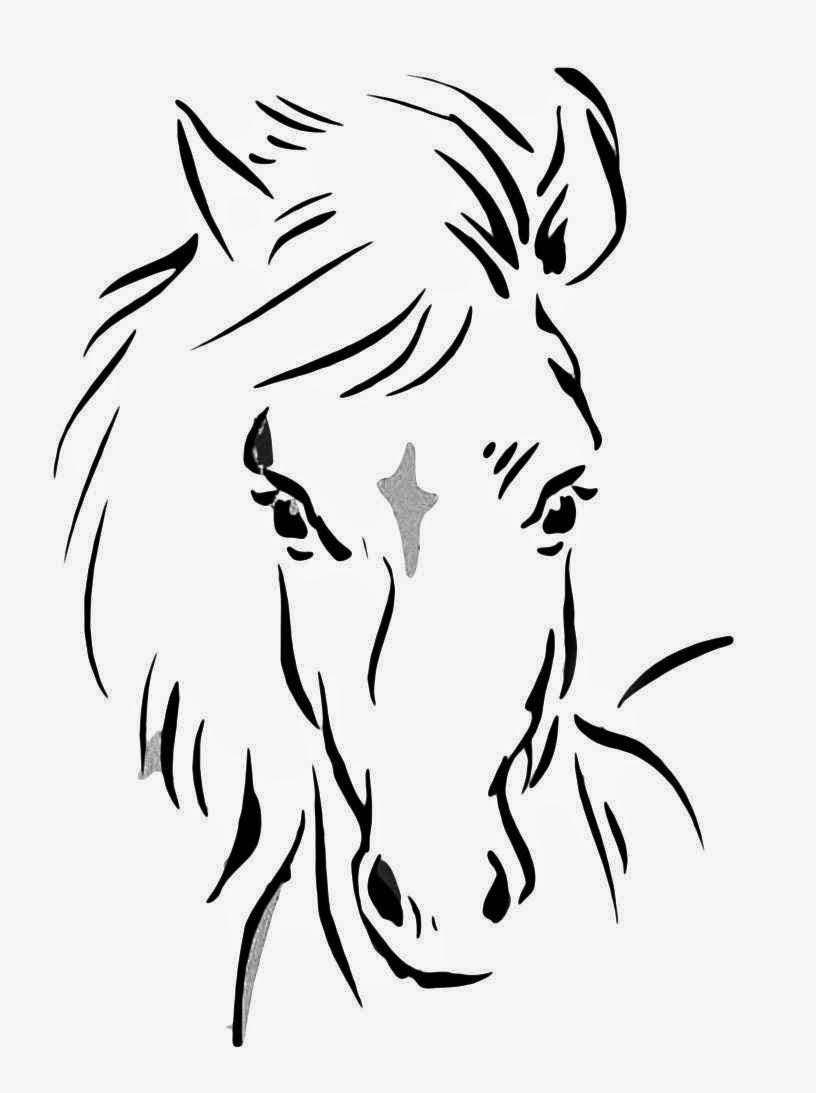 Disegni da colorare di cavalli for Disegno cavallo stilizzato