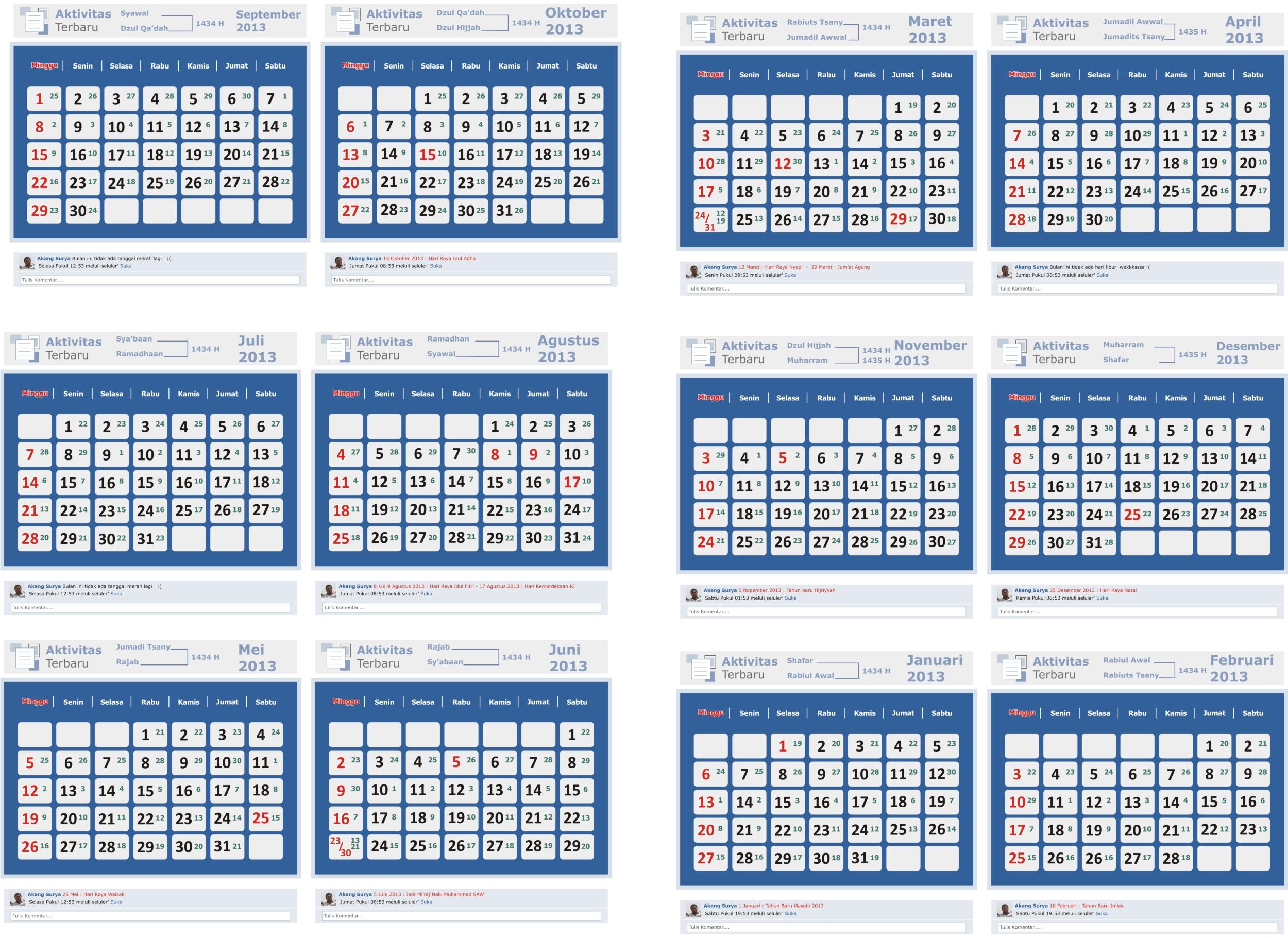 Kalender Nopember Desember 2013. Format CDR Klik disini untuk download