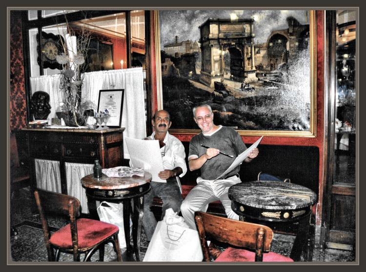 CAFFE GRECO-ROMA-PINTORES-PINTANDO-FOTOS-PINTURA-PINTOR-ERNEST DESCALS-