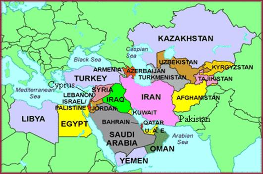 Middle east printable outline map jordan egypt syria israel gumiabroncs Gallery