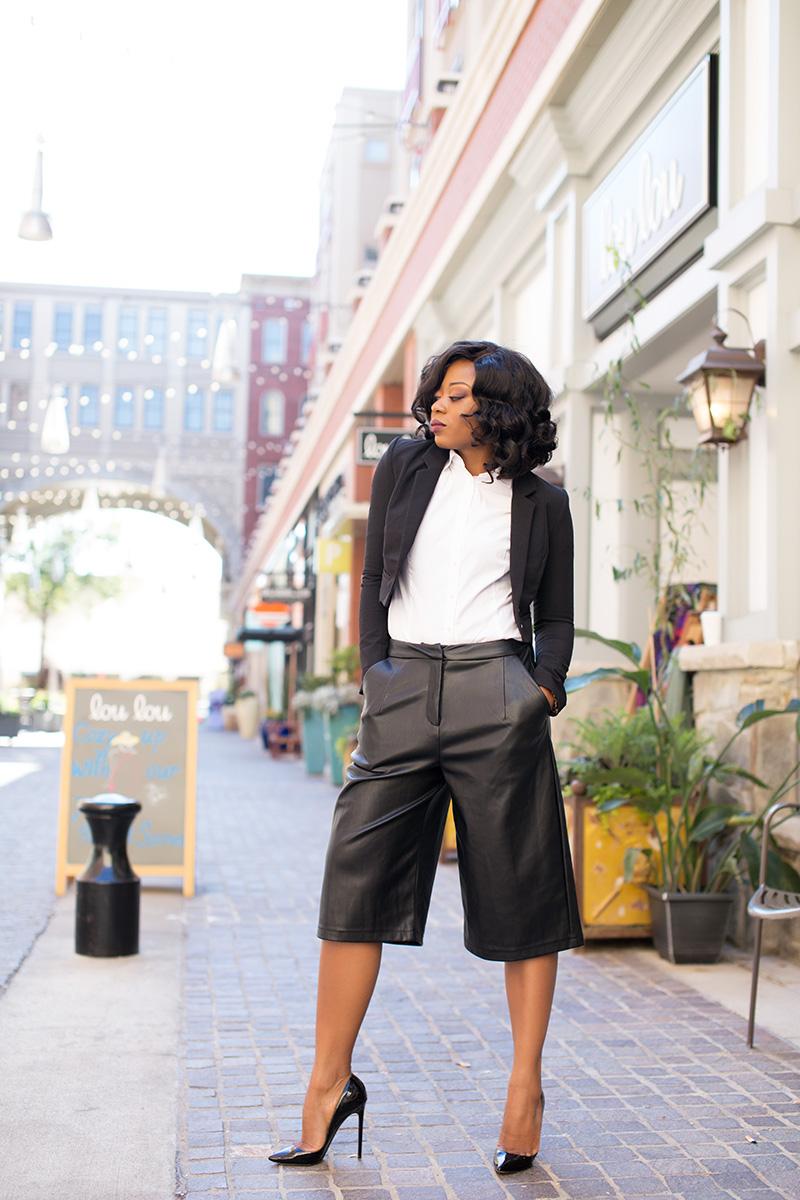 culottes, tuxedo blazer, www.jadore-fashion.com
