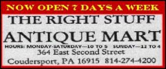Right Stuff Antique Mart Open Daily