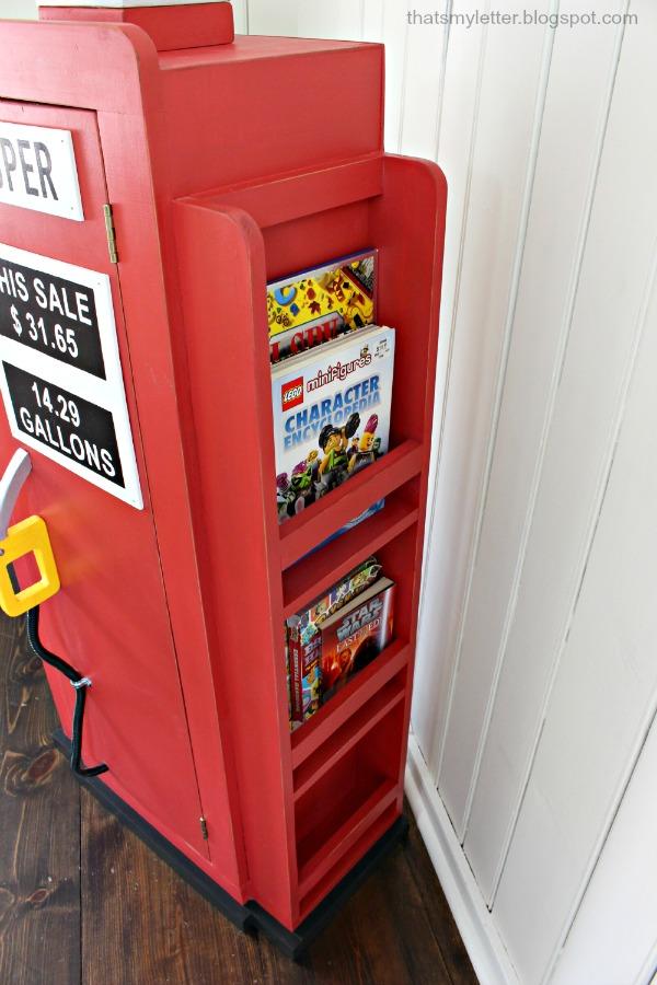 Thats My Letter DIY Gas Pump Bookshelf