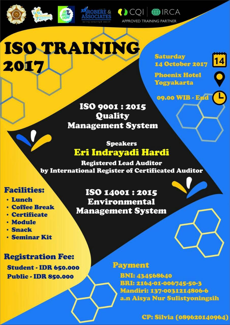 ISO Training 2017 di Universitas Gajah Mada