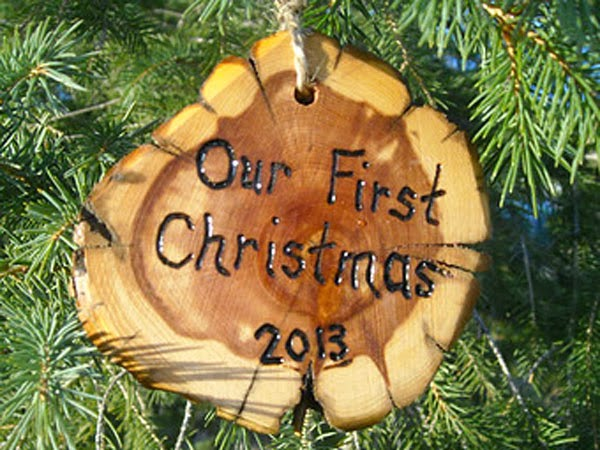 Our First Wedding Christmas Ornament
