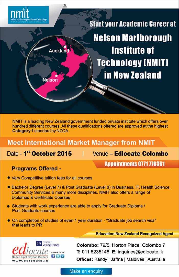 Edlocate - Study at NMIT New Zealand.